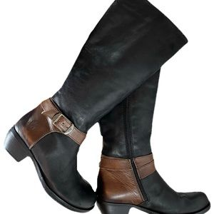 Fly London Leather Buckle Boots